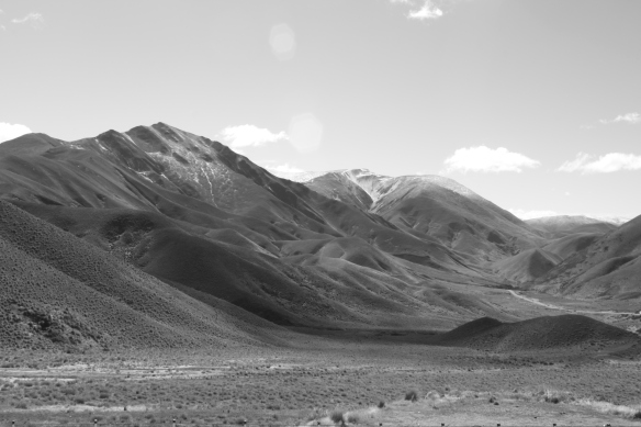 Pt 1415 and Longslip Mountain from the Lindis Pass Summit