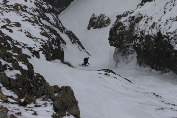 Ryan in the couloir