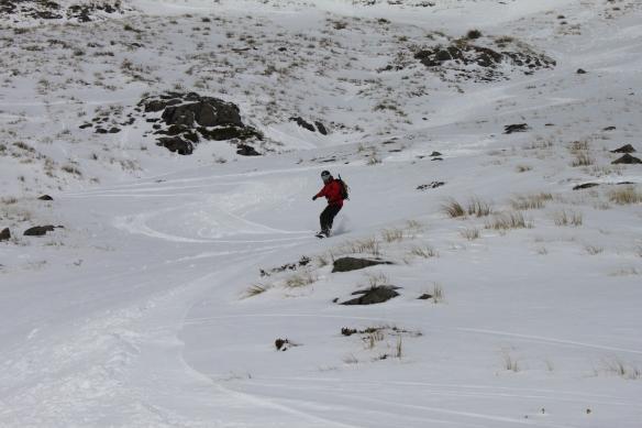 Jacqui enjoys the fresh snow