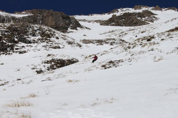 Adam from Firstlight Splitboards enjoying the snow Photo: Jaime Splatt
